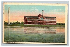 Vintage 1918 Postcard The War College Building Washington Monument Washington DC