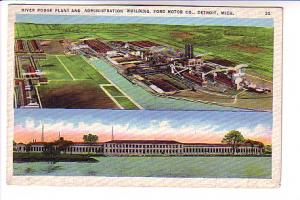 River Rouge Plant, Administration Building, Ford Motor Factory, Detroit, Mich...