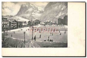 Old Postcard of Sports & # 39hiver Skating