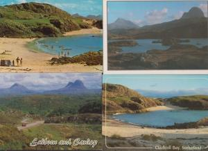 Clachtoll Bay Lochinvar Suilven & Canisp 4x Sutherland Postcard s