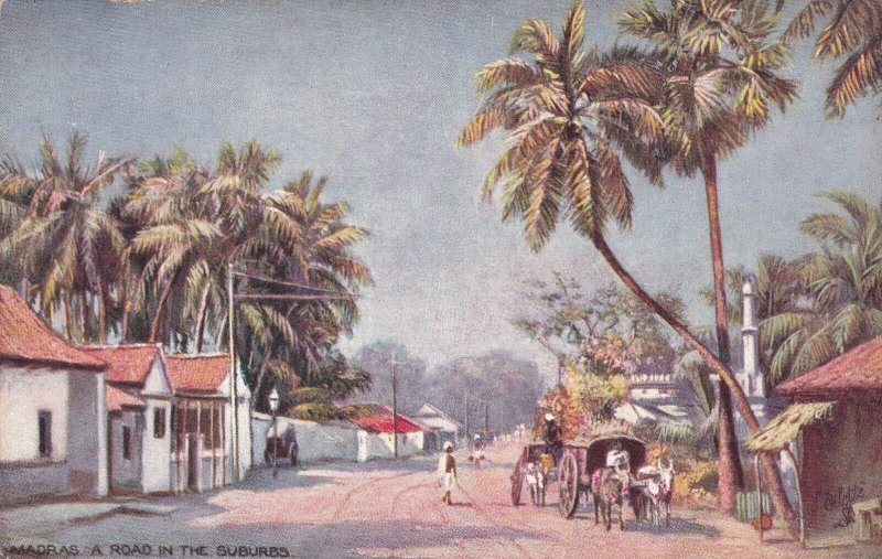 India Madras Road Scene In The Suburbs Tucks sk164