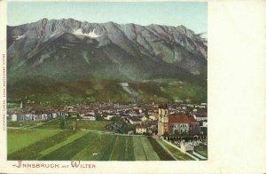 austria, INNSBRUCK, Panorama mit Wilten (1899) Postcard