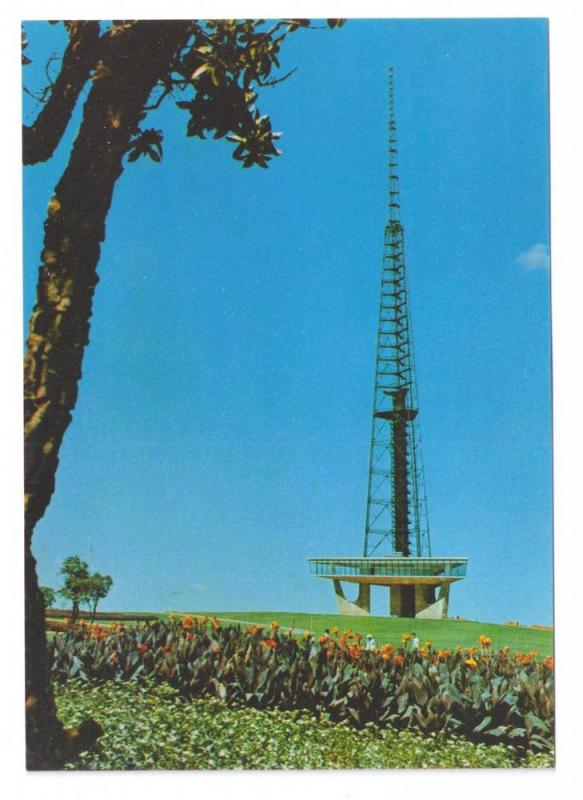 Brasilia TV Tower Brazil 1970's 4X6 Postcard