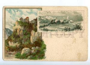 172322 GERMANY GRUSS aud dem DONAUTHAL by Mutter Old postcard