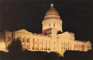The Arkansas State Capitol At Night Little Rock Arkansas