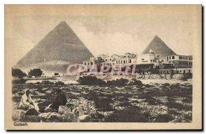 Postcard Ancient Egypt Egypt Guiseh