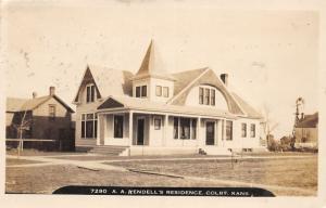 F10/ Colby Kansas RPPC Postcard 1909 Kendell's Residence