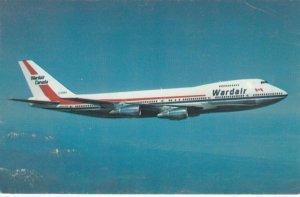 WARDAIR Airplane in flight, 1960-70s