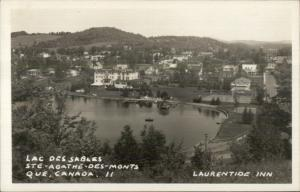 Lac Des Sables Ste Agathe Des Monts Quebec Real Photo Postcard