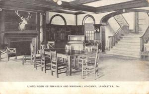 Lancaster Pennsylvania Marshall Academy Living Room Antique Postcard K22748