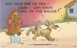 Comic dog. Why have one on you -When I can have.. Humorous American linen PC