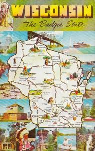 Map Of Wisconsin The Badger State