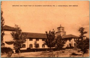 Albuquerque, New Mexico Postcard NAZARETH SANATORIUM / TB Hospital c1930s Unused