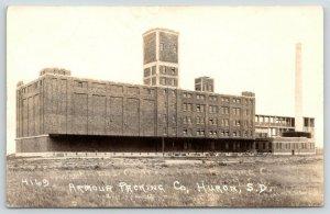 Huron South Dakota~New? Armour Packing Plant Closeup~Tower~SMokestack~RPPC c1930