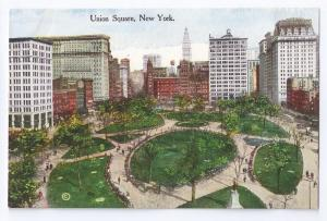 Union Square New York NY Vintage 1912 Postcard