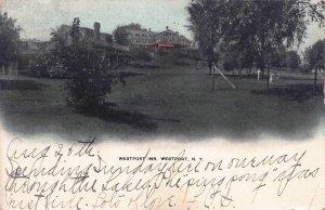 Westport Inn, Westport, New York, Early Hand Colored Postcard, Used in 1906