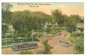 Monument Park from New Augusta House, Augusta, Maine, PU-1915