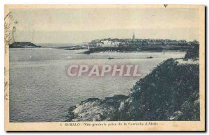 CARTE Postale Old St Malo General view taken from the Corniche d'Aleth