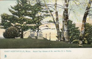 EAST NORTHFIELD , MA, 1900-10s; Round Top-Graves of Mr. & Mrs. D.L. Moody, TUCK