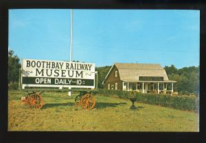 Boothbay Harbor, Maine/ME Postcard, Boothbay Railway Nuseum, Railroad/RR