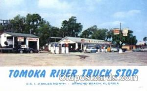 Ormond Beach, Florida, USA Gas Station Stations Postcard Post Card  Ormond Be...