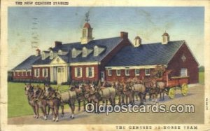 The Genesee 12 Horse Team Rochester, NY, USA Postcard Post Cards Old Vintage ...