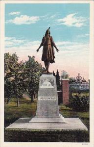 Showing Monument Of The Princess Pocahontas Jamestown Island Virginia