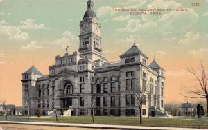 Sedgwick County Court House, Wichita, Kansas,  Early Postcard, Unused