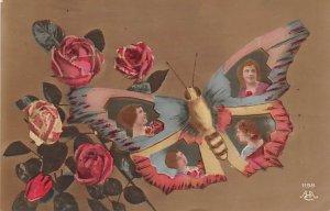 Butterflies Post Card, Butterfly Postcard Butterfly Portraits Writing on back