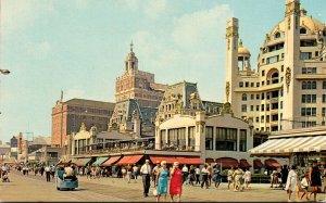 New Jersey Atlantic City Scene Along The Boardwalk