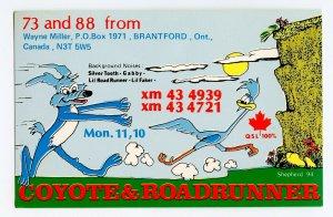 QSL Radio Card From Brantford Ontario Canada XM 43 4939 XM 43 4721