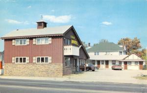 Grayling MI Cedar Motel~Walk-Out Deck~Office Bldg~Latuszek & Savoie 1970s Cars