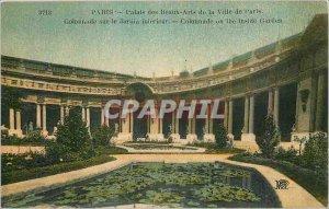 Old Postcard Paris Palace of Fine Arts of the City of Paris Colonnade Garden ...
