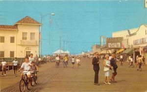 Ocean City New Jersey~Boardwalk~Moorlyn Theatre~Simms Restaurant~Bicycles~'68 Pc