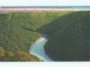 Linen RIVER SCENE Morgantown West Virginia WV AE6198