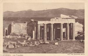 ATHENES, Greece, 1900-1910's; Les Propylees