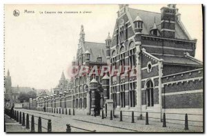Old Postcard Mons Barracks hunters on horseback Army