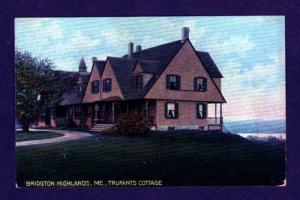 ME Trufant's Cottage Highland Lake BRIDGTON MAINE PC