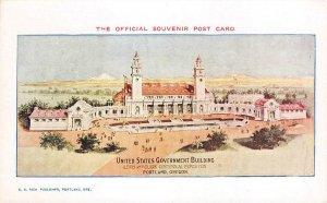 US Government Building, Portland, OR Lewis & Clark Centennial Expo 1905 Postcard