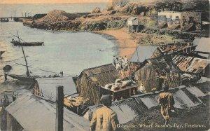 Gibraltar Wharf Susan's Bay Freetown Sierra Leone Africa c1910s Vintage Postcard