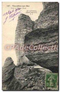 Postcard Old Vaucottes Sur Mer Sous La Falaise D'Aval