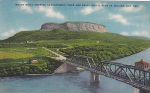 Mount McKay Showing Kaministiquia River & Swing Bridge Near Ft. William, Onta...
