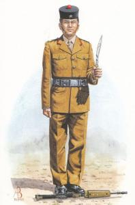 Rifleman Rifle Soldier Of The Royal Gurkha Rifles Dress Uniform Military Post...