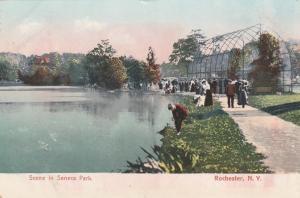 Trout Lake near Aviary - Seneca Park, Rochester, New York - pm 1907 - UDB