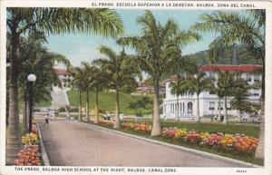 Panama Canal Zone The Prado Balboa High School At The Right
