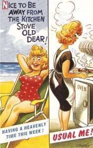 Taylor. Nice to be away from the kitch.. Bamforth Seaside Comic Ser. PC # 2109
