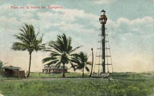 mexico, TAMPICO, Faro en la Barra, Lighthouse (1909) Postcard