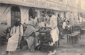 B91937 tunis tunisia cafe de la place halfaouine types coffee instead  africa