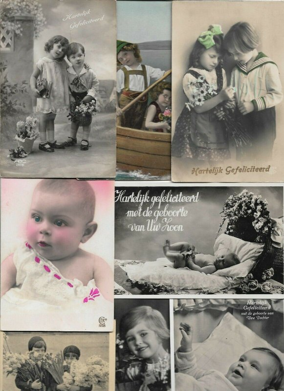 Victorian Style Ladies And Kids Theme Postcard Lot of 20 01.12