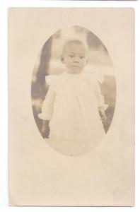 RPPC Baby child Real Photo Ackley Frederic Wi